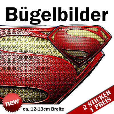 Bügelbilder Man of Steel Patches Foliendruck Held Hero Superheld Superman
