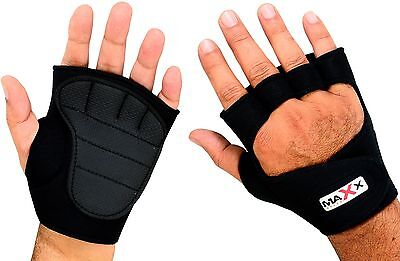 Maxx Body Building Gym Gel Neoprene Weight Lifting Gloves with Rubber Palm Grips