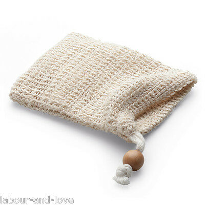 Natural Sisal* Bag For Residue Soap* Great Travel Body Scrubber
