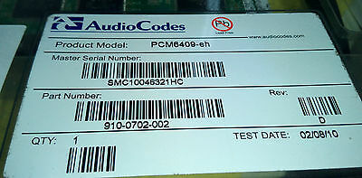 AudioCodes PCM6409-EH PCIe Dual Span Integra Interface Card PN 910-0702-002 NEW!