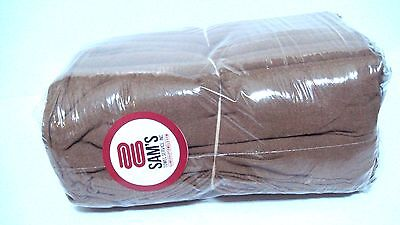 Domestic Dyed and Bleached Shop Towels - Chocolate - Heavy Duty - 175lbs/dzn