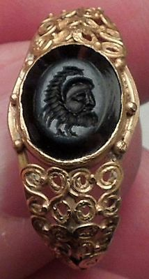 200AD MITHRA Cult Pater Aristocratic Ancient GOLD Roman Ring Jewelry Artifact