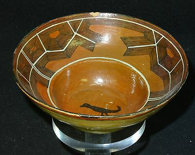 Antique Detailed Painted Pre-Columbian Chupicuaro Bowl  ~ 6.25""