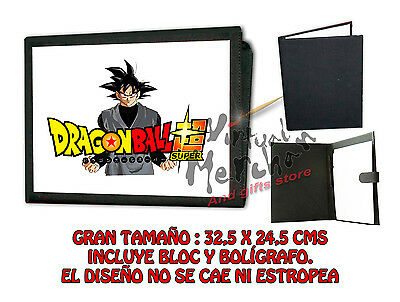CARPETA GOKU BLACK DRAGON BALL SUPER LOGO LONETA NEGRA FOLDER bloc es