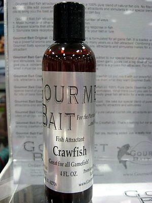 Gourmet Bait Crawfish Fish Attractant Scent 4 oz. Free Shipping