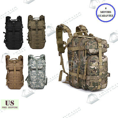 30L Outdoor Tactical Backpack Military Sport Camping Hiking Trekking Bag 08009B