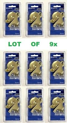Lot set of 9 Window Sash Lock Bright Brass Security Hardware double hung window