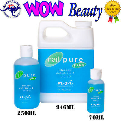 NSI Nail Pure Plus - Cleanser Sanitizer Dehydrator & Reduces Lifting + Free Gift