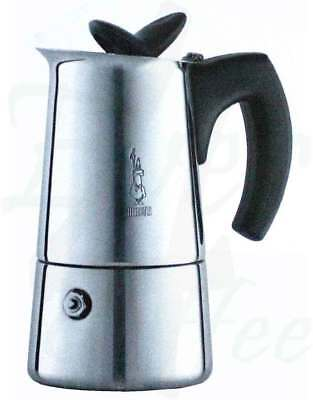 Bialetti Musa Induction Stainless Steel 6 Cup Coffee Maker Espresso Stovetop