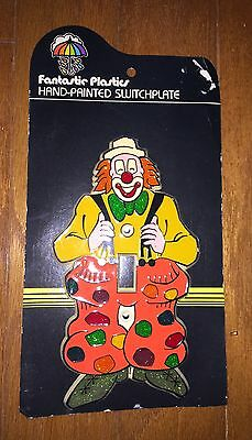Vintage Fantastic Plastic 70's Plastic Light Switch Plate Circus Clown • CAD $20.15