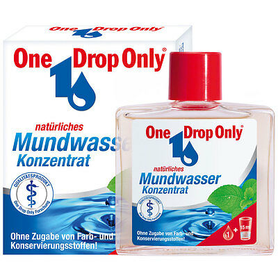 """"""" One Drop Only """" natural Mouthwash Concentrate 50 ml  New from Germany"""