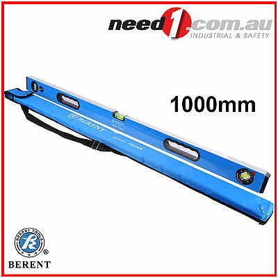 BERENT ALUMINIUM  SPIRIT LEVEL 1000mm PROTECTIVE RUBBER ENDS