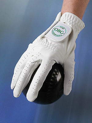 L@@k Mens White Right Hand Sports Bowls Golf Glove Size Xl Only £3.95!