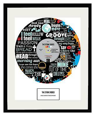 Stone Roses Framed Art Poster Limited Edition - Rock - Ideal Gift - Memorabilia