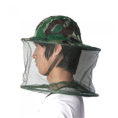 Outdoor Practical Mosquito Bug Insect Bee Net Mesh Head Face Protector Cap Hat