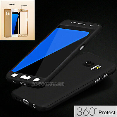 360° Full Body Slim Shockproof Case Cover For Samsung Galaxy S7 Edge S6 S8+ Plus