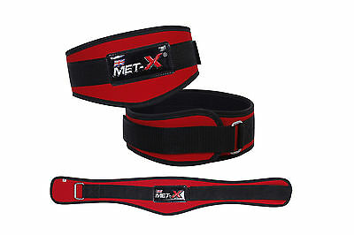 Met-X Womens Weight Lifting Fitness Gym Belts Back Support RedTraining Belts