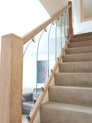 Glass StairCase Panels - for Rake and Landing - Glass StairParts