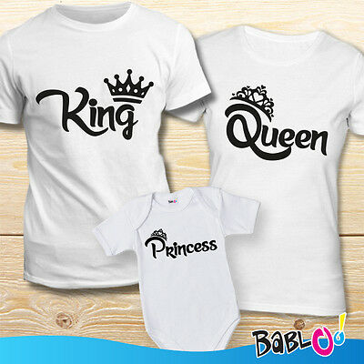 "Coppia Di Maglie e Bodino ""King Queen Princess"""