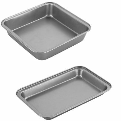 Non Stick Nonstick Metal Brownie Flapjack Tray Bake Baking Cake Tray Pan Tin