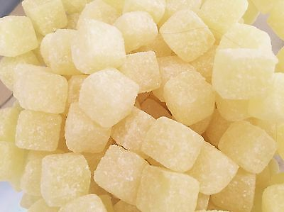 PINEAPPLE CUBES 200g, CLASSIC BRITISH HARD BOILED RETRO SWEETS, UK IMPORT