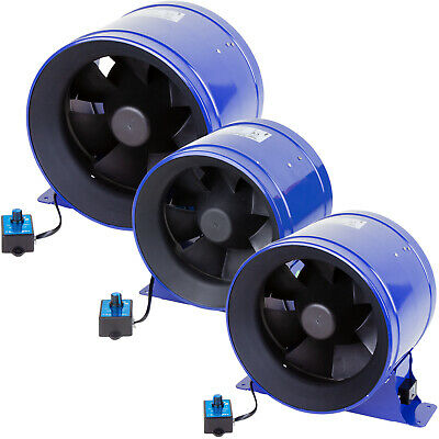 "Phresh Hyper Digital Mixed Flow Extractor Hydroponic Duct Fan 6"" 8"" 10"""