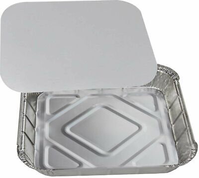 No9 Large Square Heavy Duty Deep Catering Aluminium Foil Food Grade Containers