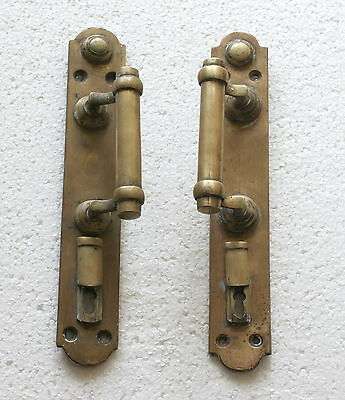 2 Antique Russian Imperial Brass Door Handle - Pair - ORIGINAL