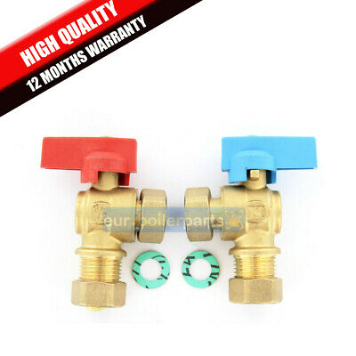 "Isolating Valve 1/2"" 15mm 90 degrees angled BRAND NEW HIGH QUALITY Made in Italy"