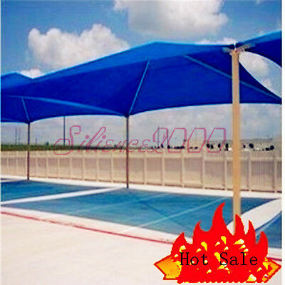 90% UV Blue Shade Cloth Sunshade Fabric Clips Greenhouse For Width 6.5Ft