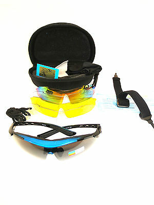 Pro Sport Cycling Glasses Bike Riding Sports Sunglasses 5 Len prescription lens