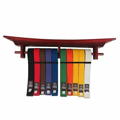 Tori Gate Wall Mounted Belt Display Martial Arts Gifts Grading Taekwondo Karate