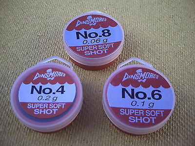 Perfect for Link Legers. 3 x Dinsmore Refil Tubs.Size LG Super Soft Shot