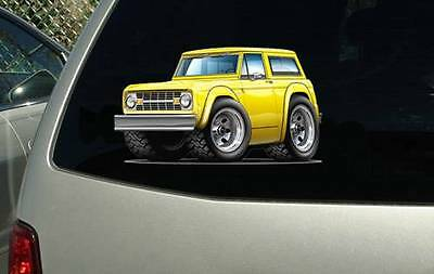 1966-77 Ford Bronco 4x4 Vinyl Cut Sticker Decal NEW FREE SHIPPING