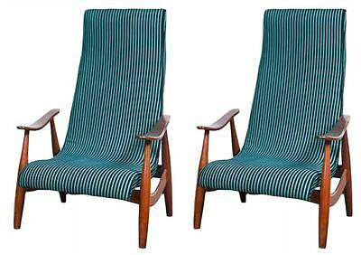 A Pair of Mid-Century Modern Arm Lounge Chairs 101-WH10