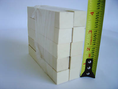 Holly American wood turning squares pen blanks - 20 pcs