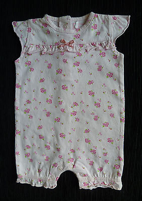 Baby clothes GIRL newborn 0-1m NEXT pink floral soft cotton romper SEE MY SHOP!
