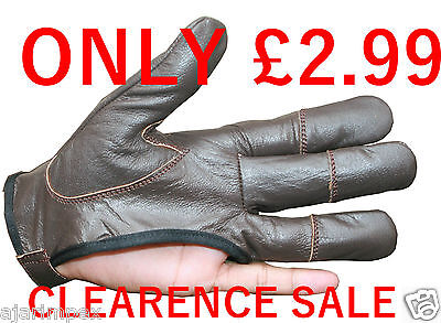 Archers, Chocolate Brown Leather Shooting 4 Finger Glove ( Left Hand Glove )