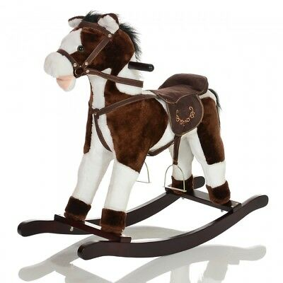Rocking Horse GRANDOR Plush wooden children toy galloping + other sound effects