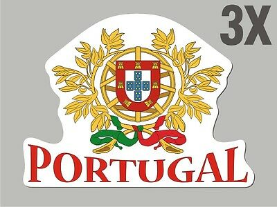 3 Portugal shaped stickers flag crest decal bumper car bike Sticker Vinyl  CN033