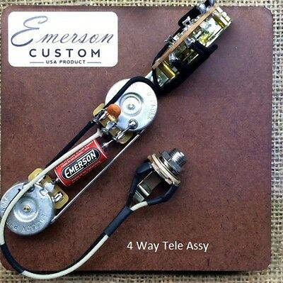 New Guitar Parts Tele Pre-Wired 4 Way Assembly - Emerson USA