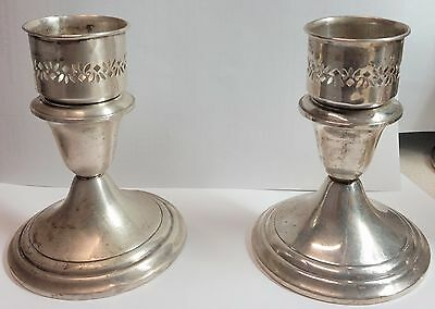 "One PAIR Gorham 661 Sterling Silver Candle Holder Candlestick, 5"" Tall"