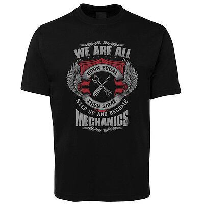 New Black Mechanic T Shirt Size S -5XL +7XL