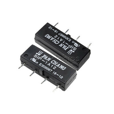 5PCS 12V Relay SIP-1A12 Reed Switch Relay 4PIN for PAN CHANG Relay WC