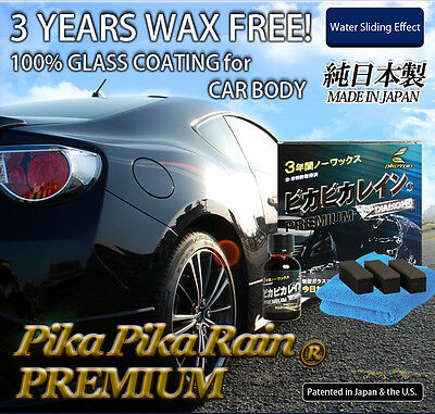 Long Lasting & Car Wax Free Pika Pika Rain PREMIUM 100% Made in Japan