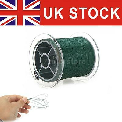 300M 20LB 0.18mm Fishing Line Strong Braided 4 Strands Dark Green UK STOCK D5D3
