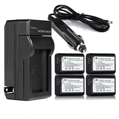 NP-FW50 1500mAh Battery & Charger For Sony A7 A7R Alpha A3000 A6000 A5000 NEX-3N