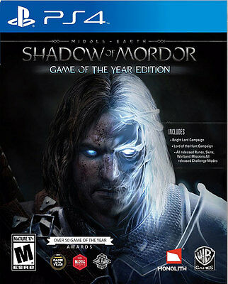 Middle Earth Shadow of Mordor Game of the Year Edition PS4 Game BRAND NEW SEALED