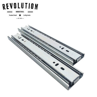2x Heavy Duty 227kg Non Locking Drawer Slides / Runners (Pair) - 300mm to 1M
