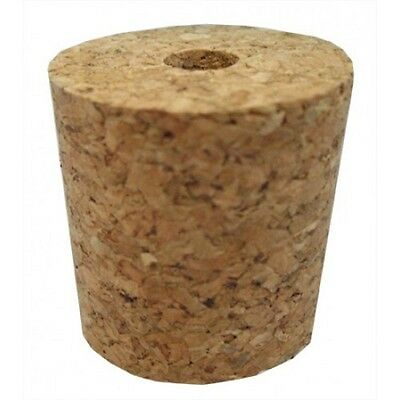 BORED CORK BUNG - Bung with Hole Bungs Drilled Cork Corks Stopper Home Brew Plug